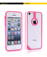 Unique Newest Bumper Case for iPhone 5C hybrid Frame Case with Finger Ring