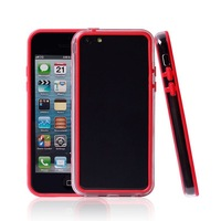 Hybrid Humper Case For iPhone 5C Soft two color Frame Case