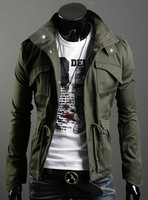 ON Sale promotion Autumn and winter men's casual jacket stand collar short outerwear design top plus cotton plus size  Cheap HOT
