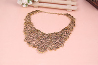 Min.order is$15 (mix order) Free Shipping &Vintage Exquisite Hollow Out Metal Totem Pattern Fake Collar Short Necklace #A1040