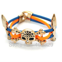 Free Shipping! Fashion Bracelets For Men Punk Style Jewelry Skeleton Bracelet 3pcs/lot