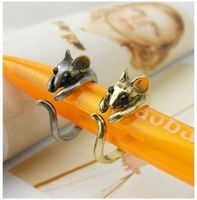Min.order is $15 (mix order)Free Shipping Korean Jewelry Cute Little Mouse Ring B183
