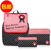 Sweet female fashion preppy style school bag casual backpack piece set 3049w