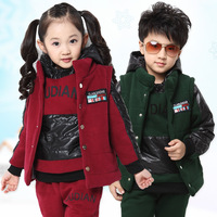 Autumn 2013 fashion children's clothing girls qiu autumn winter new children boys three-piece track suit