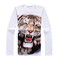 Free Shipping 2013 New Print  Plus Size High Quality Tiger Chinese Style Full T-Shirt M,L,XL,2XL,3XL,4XL,5XL,6XL RG1310619
