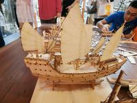 Wooden bark china sail boat Fujian ships Wooden bark model kit