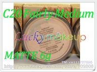 2pcs C20 Fairly Medium 6g Bare Escentuals BareMinerals MATTE MINERAL Foundation Broad Spectrum SPF 15 loose powder Click/Lock