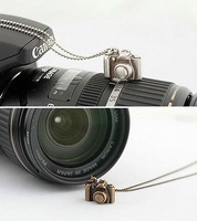 Min.order is $10 (mix order) Free Shipping Fashion Small Camera Pendant Necklace Long Design Wholesale Sweater Necklace A3 A163