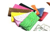 Fashion Women's Handbag PU Leather Long Wallet Credit Card Ostrich Emboss Purse