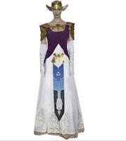 Wholesale  The Legend of Zelda Princess  Zelda Cosplay Costume customized  any size