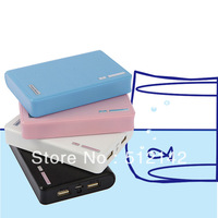 5pcs/lot good quality 12000mah wallet style power bank, shipping by Fedex/UPS !