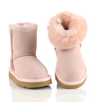 2013 Brand winter kids snow boots, real cowhide Australian boots, waterproof warm children Cotton Boots Free shipping
