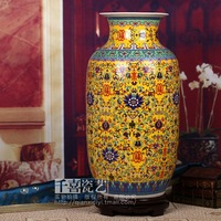 Jingdezhen ceramic vase enamel caici large floor vase bottle gourd crafts