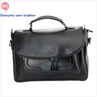 Luxury brand genuine cow leather handbag for women wholesale ladies shoulder bag lady designer totes