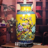 Jingdezhen ceramic vase large floor vase color glaze bottle gourd home
