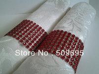 wedding table decoration 8 rows  rhinestone diamond napkin ring LE008G