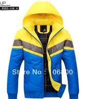 2013 detachable cap warm thick padded cotton jacket winter men coat
