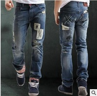 2013 free shipping Mens Designer Jeans Denim Top Pants Man Fashion Pant Clubwear size 28-36