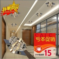 Free shipping Brief hallway lights led crystal aisle lights entrance lights balcony lamp lighting lamps
