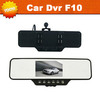 "Car Black Box RearView Mirror F10 with Ultra Wide Angle 360 Degrees + 4.3"" LCD + HD 1920*720P + G-Sensor + Free Shipping"