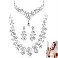 2012 Holiday season Sale-Free Shipping Hot Wholesale Rhinestone Wedding Jewelry Sets Bridal jewelry&Christmas Jewelry Sets 3T058