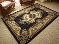 Luxury artificial wool carpet blue classic living room carpet coffee table carpet table mats bedroom carpet
