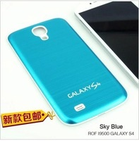 For  samsung i9500 following from S4 protective metal wiredrawing battery cover back cover shell free shipping