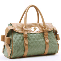 2012 spring and summer women's handbag bow genuine leather crocodile pattern handbag messenger bag women's handbag