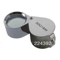 30 x 21mm Glass Jeweler Loupe Eye Magnifier Magnifying Free Shipping 100PCS/LOT