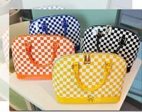 mini handbags women orange color 3pcs perfect design