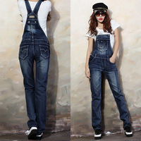 new fashion 2014 long denim overalls for women S-2XL denim bib overalls women plus size sexy jumpsuit rompers womens jumpsuit