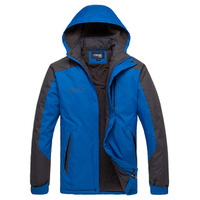 L outdoor jacket male autumn and winter wadded jacket thermal hiking clothing fleece coat