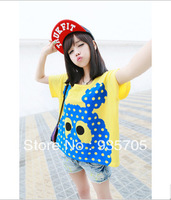 2013 summer personality non-mainstream young girl school wear short-sleeve sweet T-shirt sisters equipment