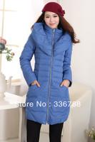 2013 Winter Korean Slim Large Collar Long Down Coat