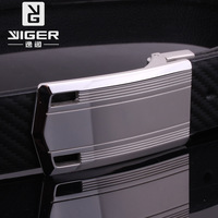 Trend stainless steel 2013 anti-allergic genuine leather genuine leather male smooth buckle strap belt