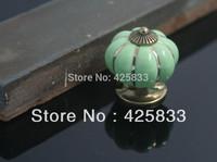 Free Shipping 8pcs Green Pumpkins Pulls and  Zinc Alloy Dresser Knob Kids Storage