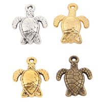 (190PCS)Jewelry sea tortoise Charms(2165#)16*13MM Tibetan Silver/Bronze Plated/Ancient Gold/Gold Plated