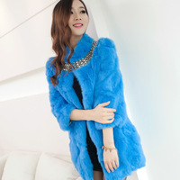 Rabbit fur 2013 slim medium-long fur coat women