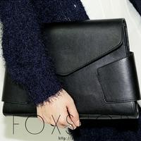 2013 style nanda black envelope big day clutch bag women's handbag