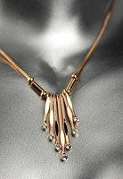 Fashion vintage tassel necklace female short design rose gold chain decoration short necklace small accessories