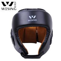 WESING QJ11-3 Senior PU leatherhigh quality boxing helmet / kickboxing combat helmet