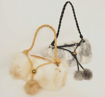 Fur bag rabbit fur bag women's handbag tote bag mini handbag real fur bags