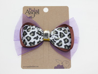 Wholesale, Fahion Leopard Print Bowknot Hair Clips With Synthetic Quartz, Free Shipping