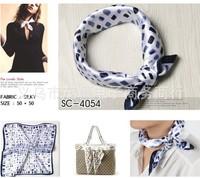 NEW design l  printed 50x50 cm  silk  square headband 2 desions airline hostess business lady's kerchief  fashion free shipping