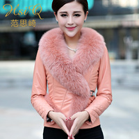 Genuine leather sheepskin fur clothing fox fur outerwear 2013 women's short design