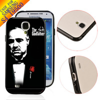 Luxury FreeShip TPU+PC Customized Rubber Designer Case hard back cover skin for Samsung Galaxy S4 SIV I9500 THE GODFATHER ZC0788