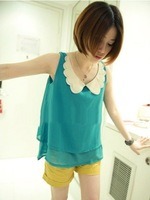 New butterfly led double-layer chiffon unlined upper garment quality