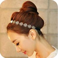 Free shipping 2014new jewelry popular fashion hair accessory punk cutout rose flower hair band hair maker women elastic hairband