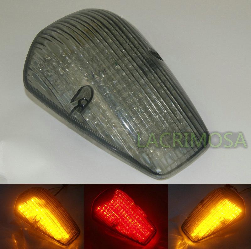 Tail Brake Turn Signals Integrated Led Light For 2002-2009 HONDA VTX 1300 1800 Custom Smoke(China (Mainland))