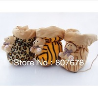 2013 Free shipping new design  12pair/lot  3color/mixed high help feet shoes.high leopard boots.baby cartoon shoes.